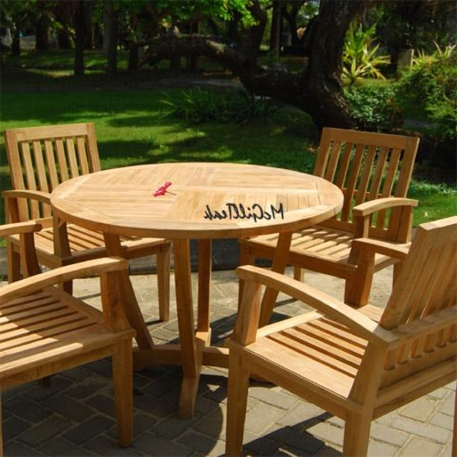 Widely Used Bali Dining Sets Regarding Teak Dining Set For 4 – Tigris With Bali (View 25 of 25)
