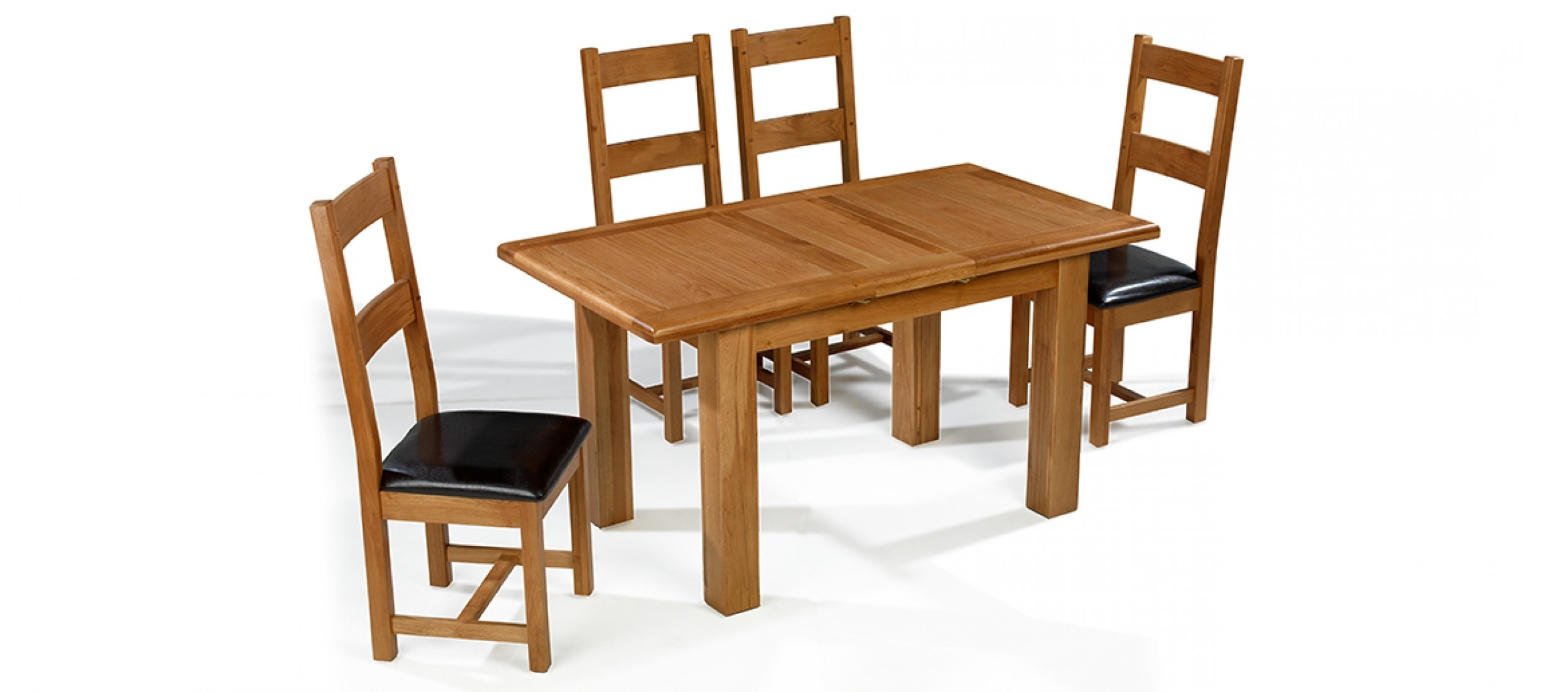 Widely Used Barham Oak 120 150 Cm Extending Dining Table And 4 Chairs (View 7 of 25)