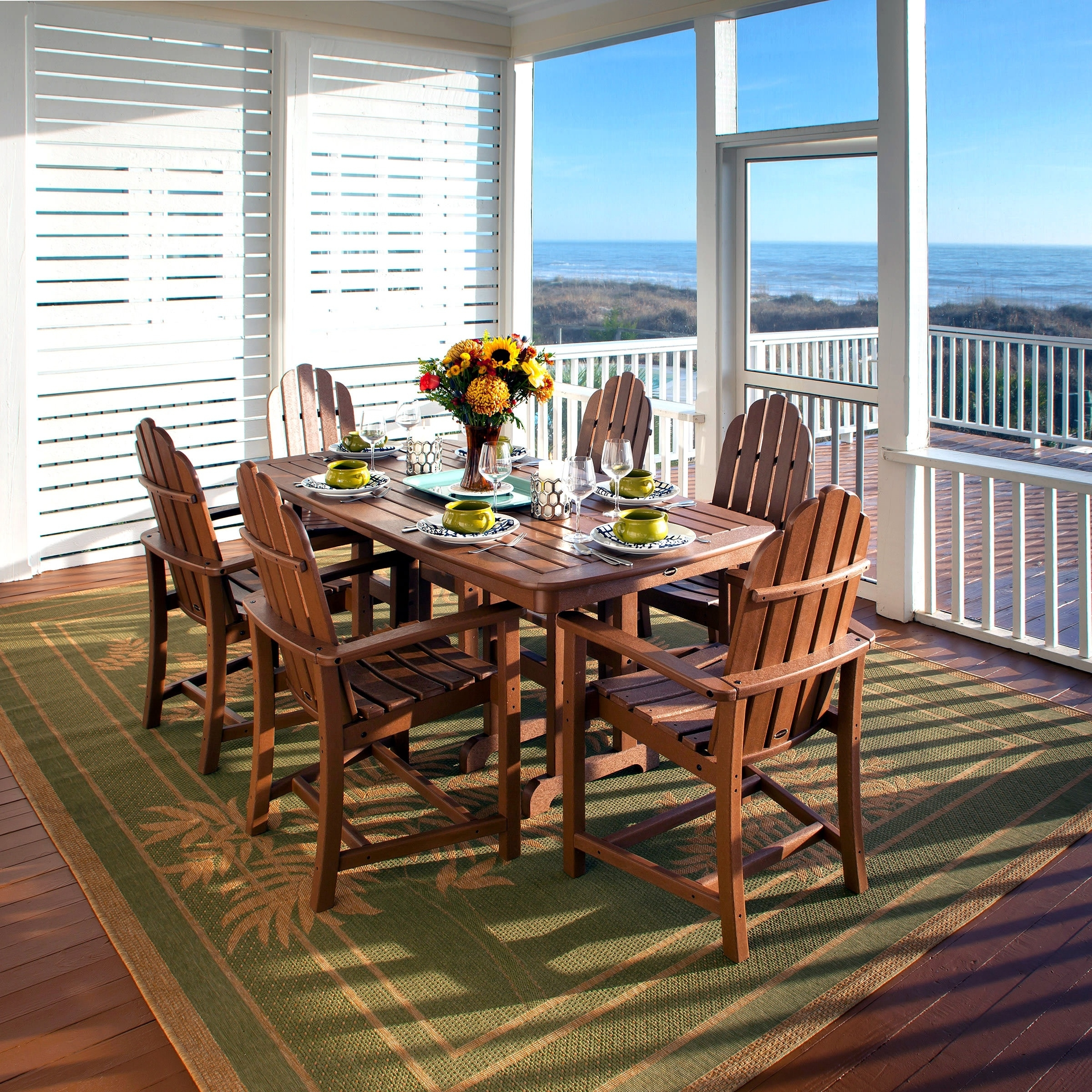 Widely Used Buy Polywood® – Poly Lumber Dining Sets Furniture : Premium Poly Patios Within Market 7 Piece Dining Sets With Side Chairs (View 24 of 25)