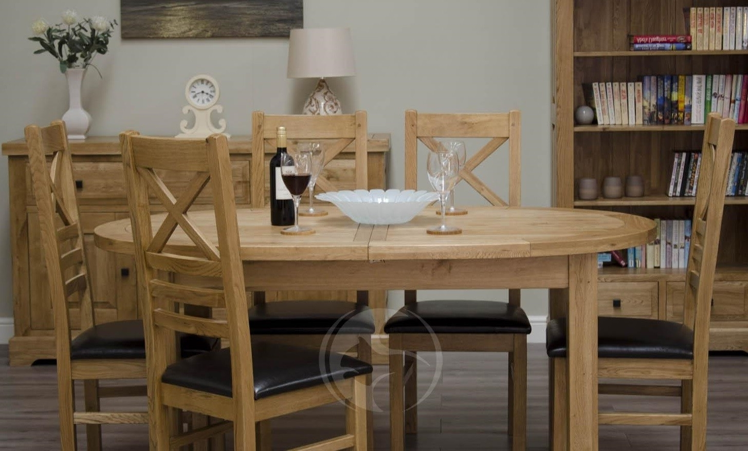 Widely Used Coniston Rustic Solid Oak Oval Extending Dining Table In Oval Extending Dining Tables And Chairs (View 24 of 25)