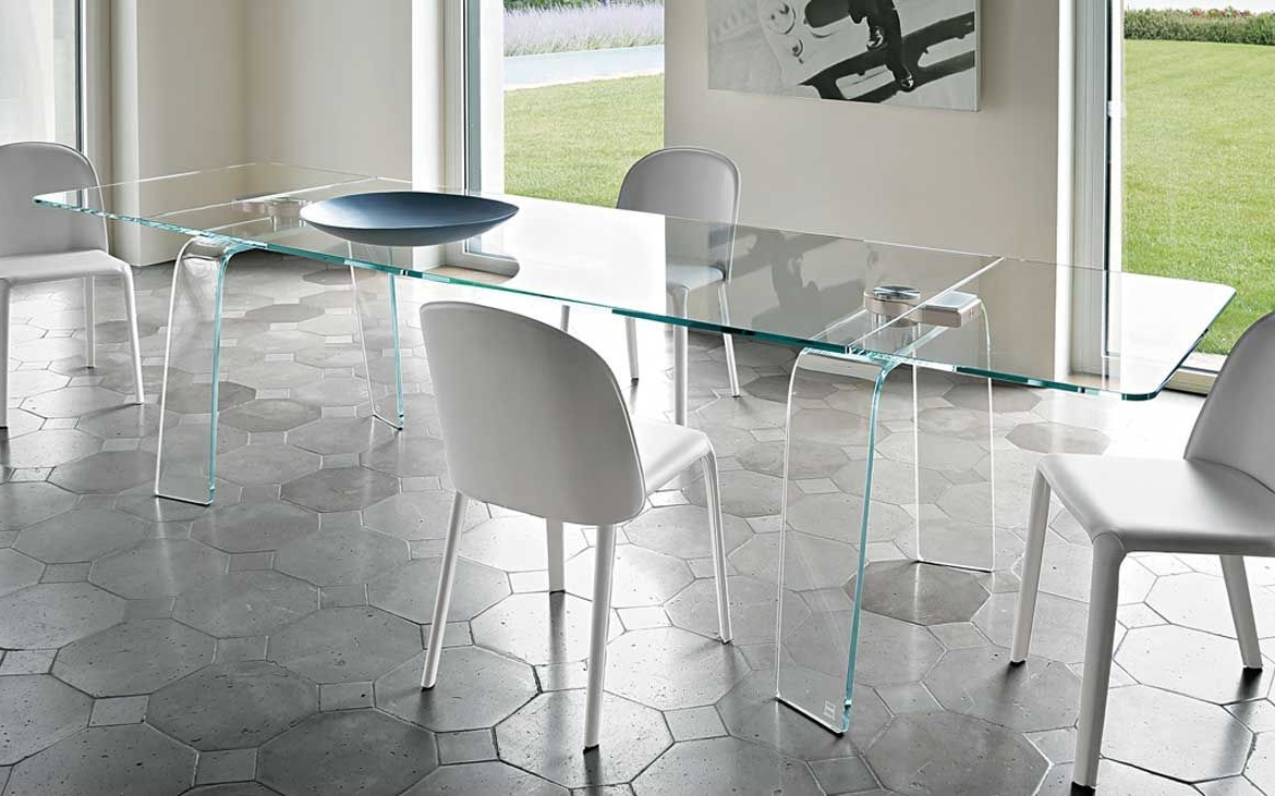 Widely Used Contemporary Table / Tempered Glass / Curved Glass / Rectangular Pertaining To Curved Glass Dining Tables (View 12 of 25)