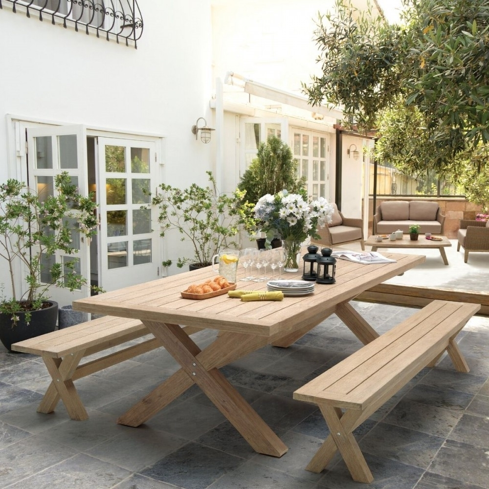 Widely Used Cora Dining Tables Intended For Kettler Cora 240Cm X 100Cm Rectangular Acacia Wooden Dining Table (View 25 of 25)