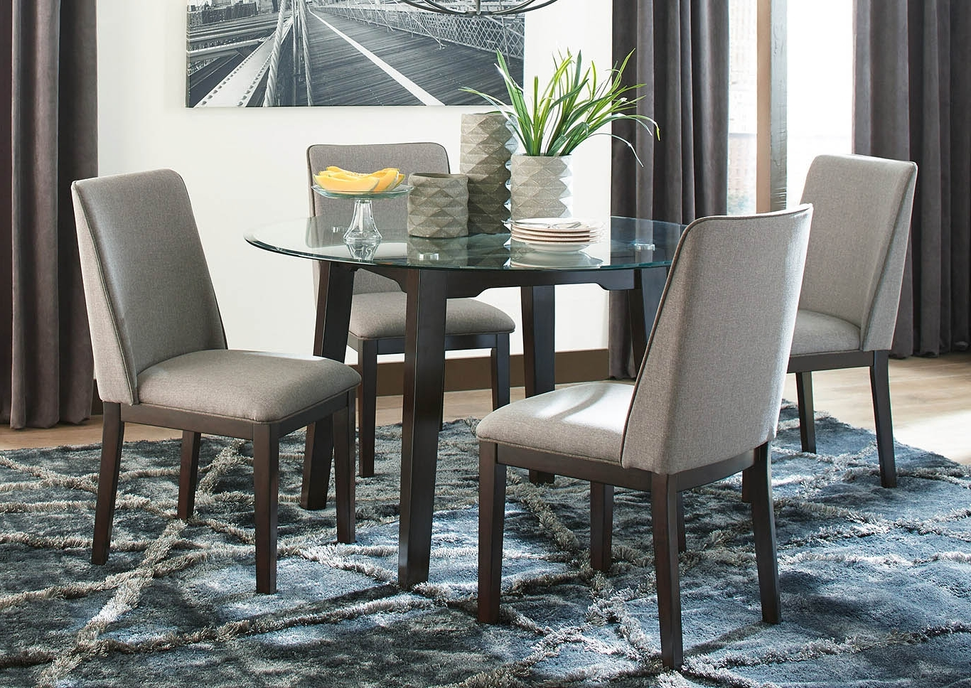 Widely Used Craftsman 5 Piece Round Dining Sets With Uph Side Chairs Intended For Southside Furniture Chanceen 5 Piece Dining Room Set (View 3 of 25)