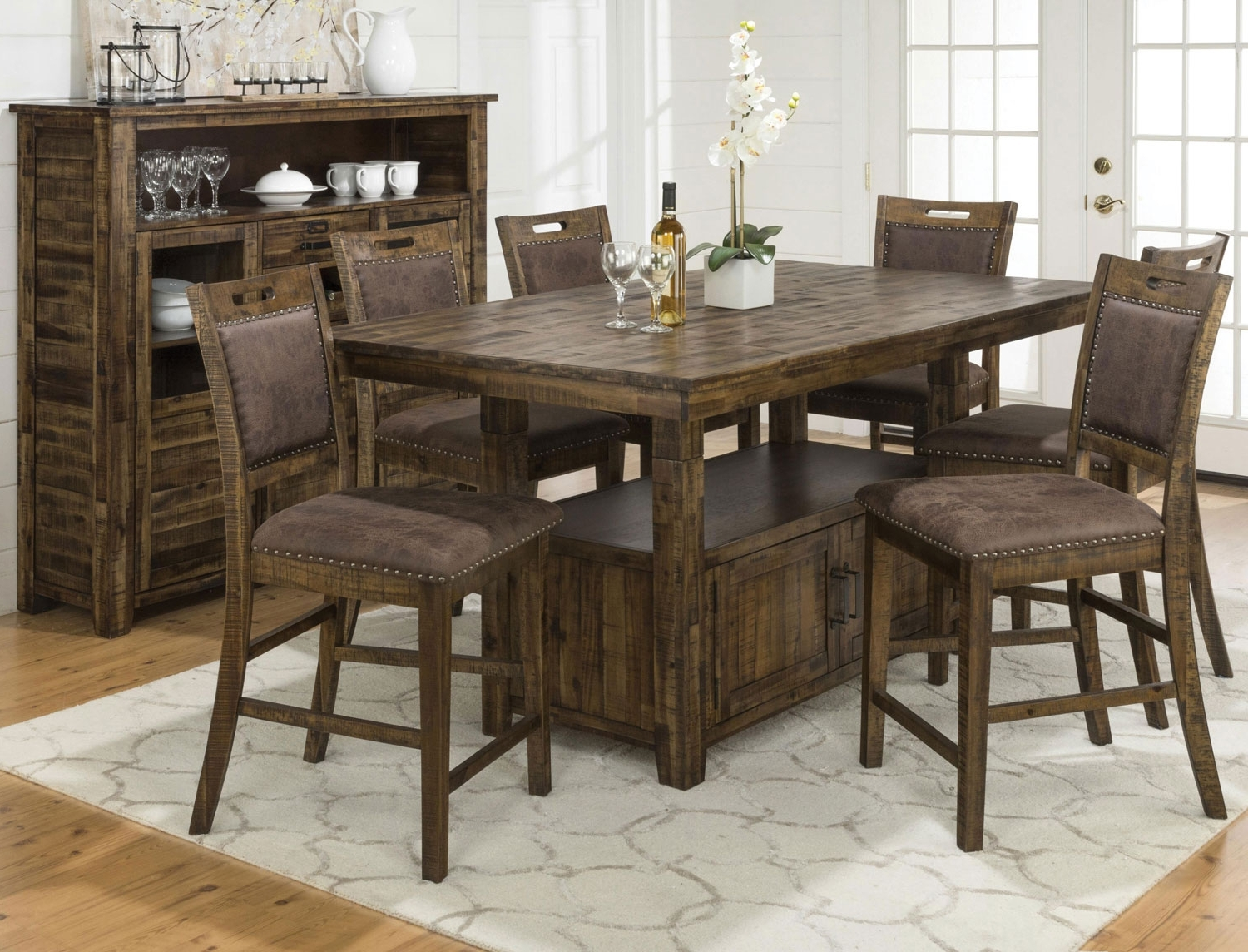 Widely Used Craftsman 7 Piece Rectangle Extension Dining Sets With Arm & Side Chairs Intended For Dining Room (View 24 of 25)