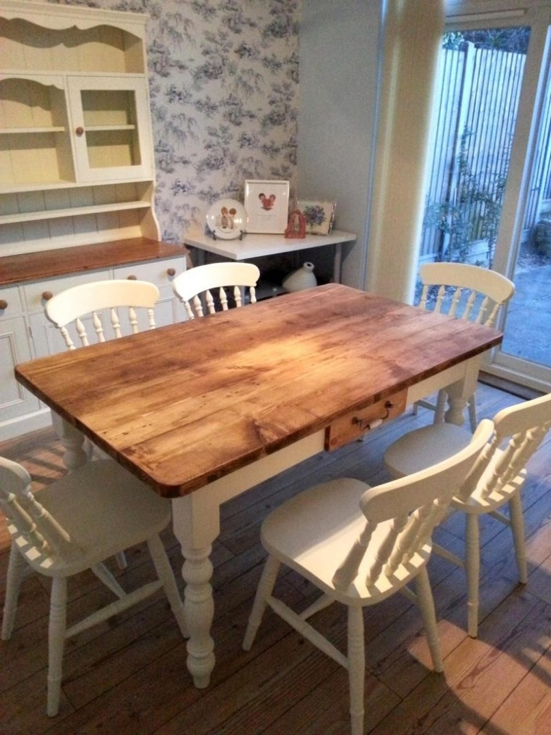 Widely Used Dining Chair : Cottage Kitchen Table Set Shabby Chic Dining Table In Shabby Dining Tables And Chairs (View 16 of 25)