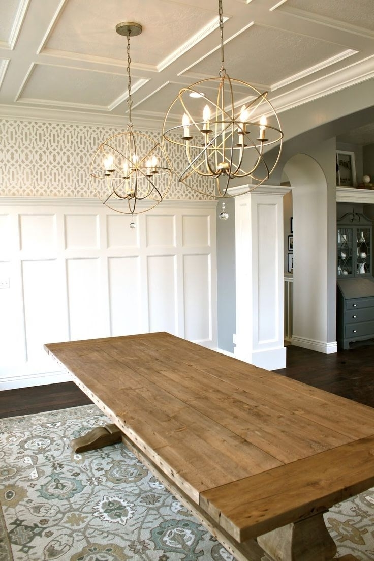 Widely Used Dining Tables Ceiling Lights With Regard To Dining Table Ceiling Lights (View 25 of 25)