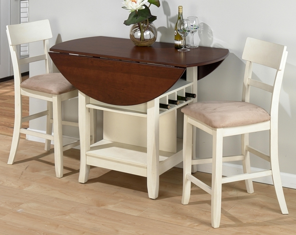 Widely Used Dining Tables For Two Pertaining To Round Dining Table With 2 Leaves Best Gallery Of Tables Furniture (View 18 of 25)