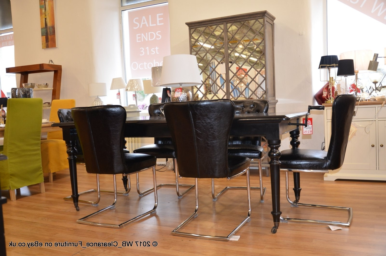 Widely Used Ebay Dining Suites Pertaining To Dining Tables : Eichholtz Dining Table + 6 Black Dining Chairs (View 24 of 25)
