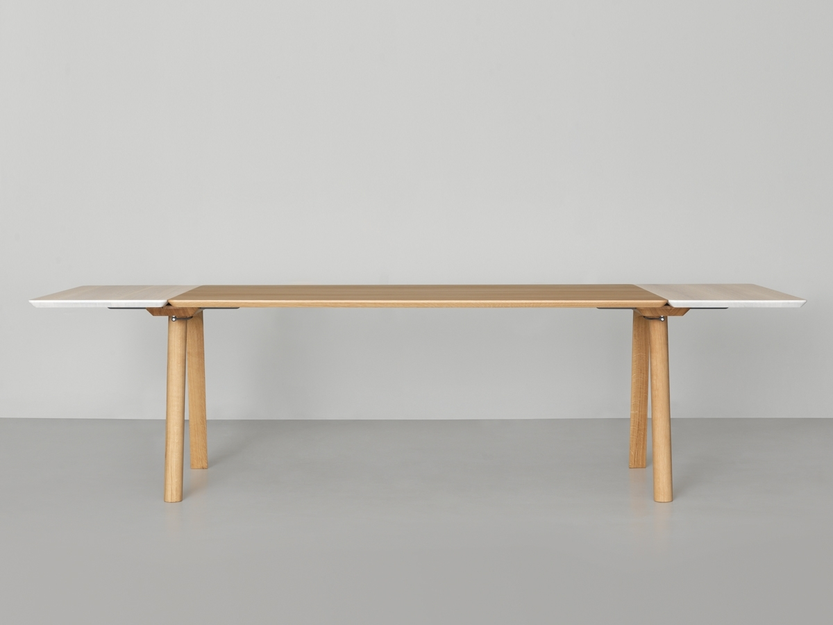 Widely Used Extendable Dining Sets Inside Zeitraum Rail Extendable Dining Table (View 23 of 25)