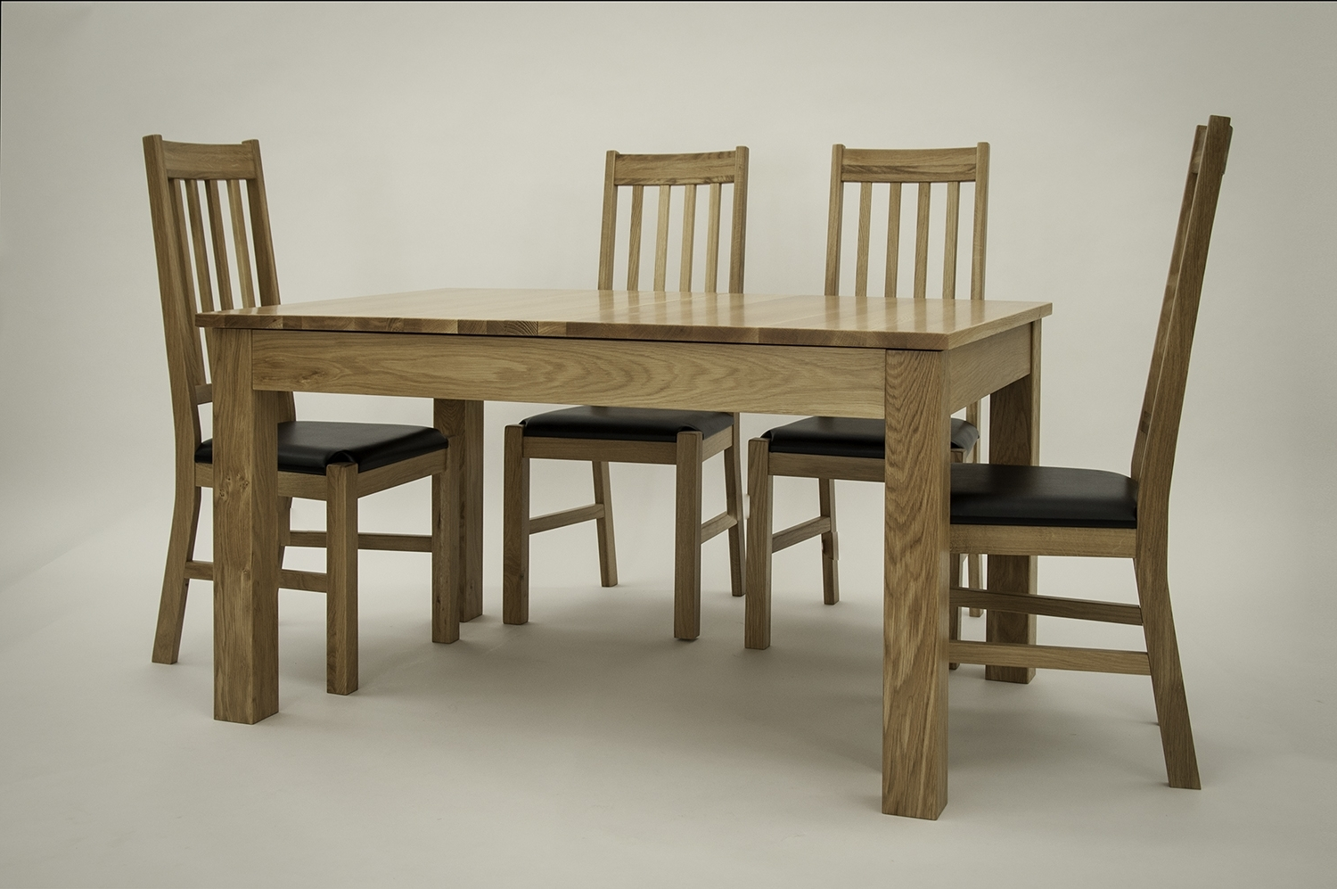 Widely Used Extending Oak Dining Table Set With 6 Or 8 Chairs, Oak Extending For Oak Extending Dining Tables And 8 Chairs (View 5 of 25)