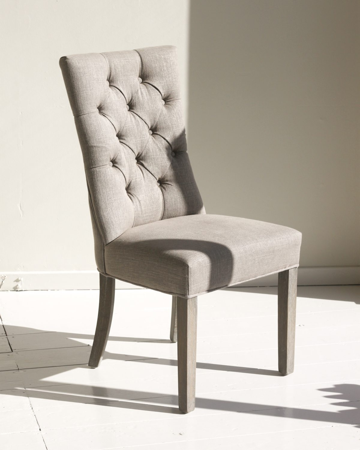 Widely Used Grey Stud Back Dining Chair (View 24 of 25)