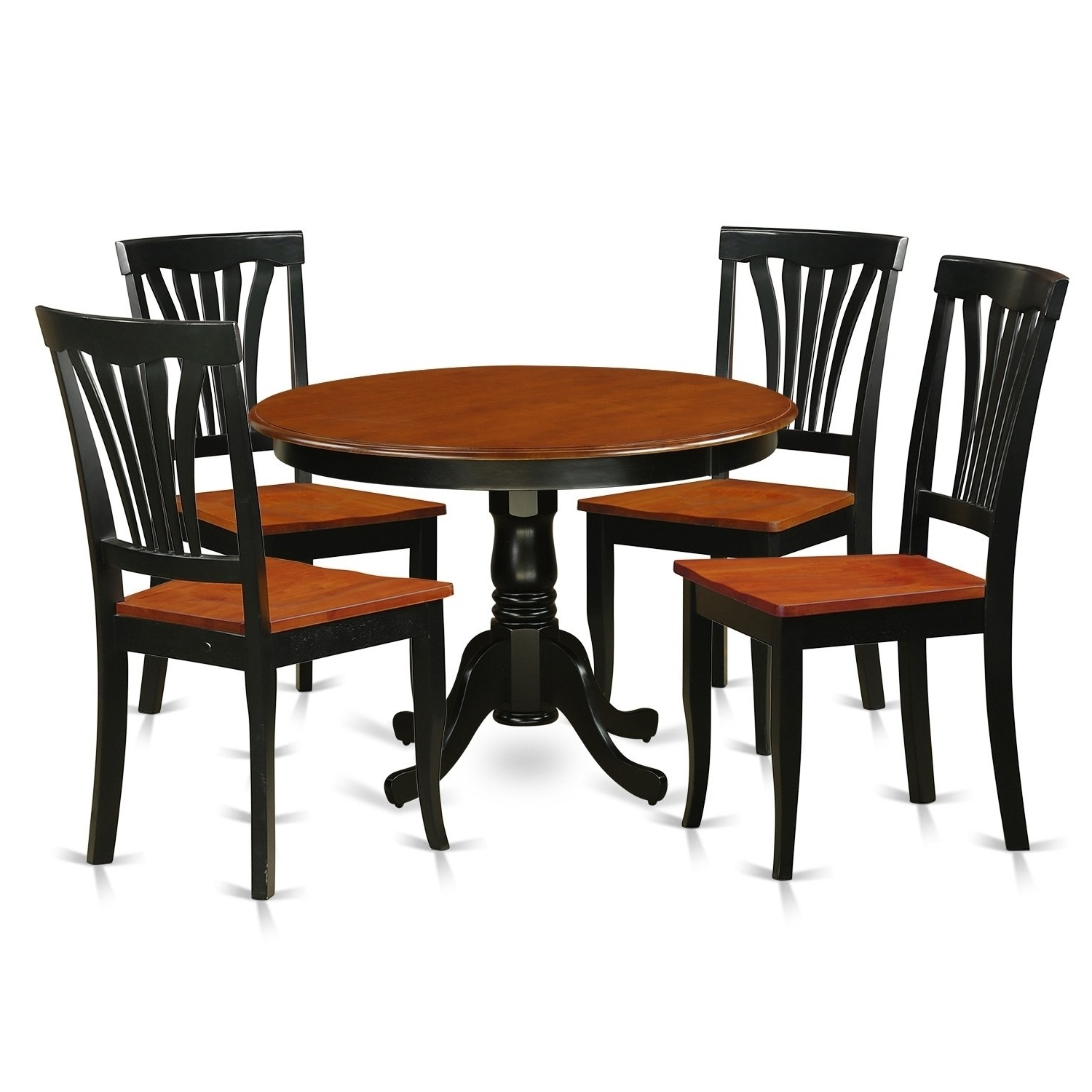 Widely Used Hlav5 W 5 Pc Table Set With A Dinette Table And 4 Dining Chairs Throughout Caden 5 Piece Round Dining Sets With Upholstered Side Chairs (View 25 of 25)