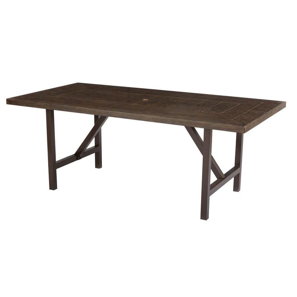 Widely Used Home Decorators Collection Bolingbrook Metal Rectangular Outdoor In Dining Tables With Metal Legs Wood Top (View 18 of 25)