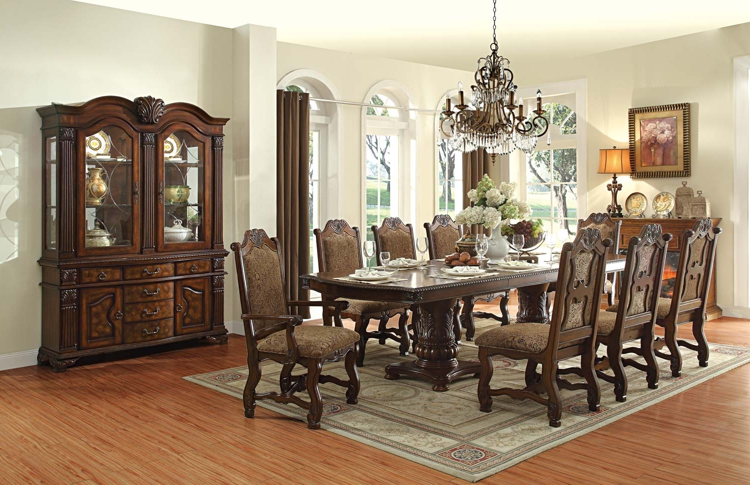 Widely Used Homelegance Thurmont Rich Cherry Leg Dining Room Set – Thurmont With Regard To 10 Seat Dining Tables And Chairs (View 24 of 25)