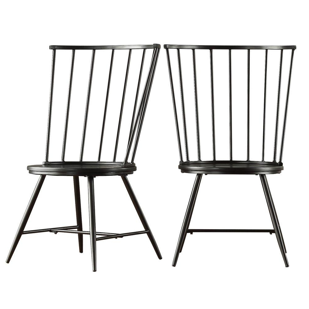 Widely Used Homesullivan Walker Black Wood And Metal High Back Dining Chair (Set For High Back Dining Chairs (View 25 of 25)
