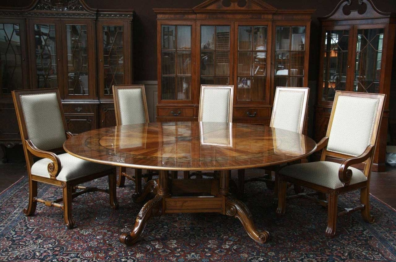 Widely Used Inspiring Large Dining Room Table Design Ideas To Intended For Large Circular Dining Tables (View 24 of 25)