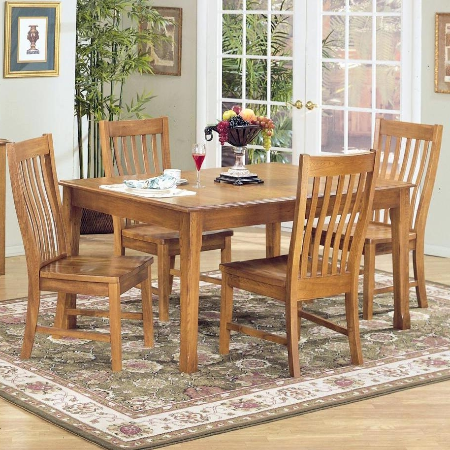 Widely Used Intercon Cambridge 5 Piece Rectangular Dining Table And Side Chair Intended For Oak Dining Sets (View 25 of 25)