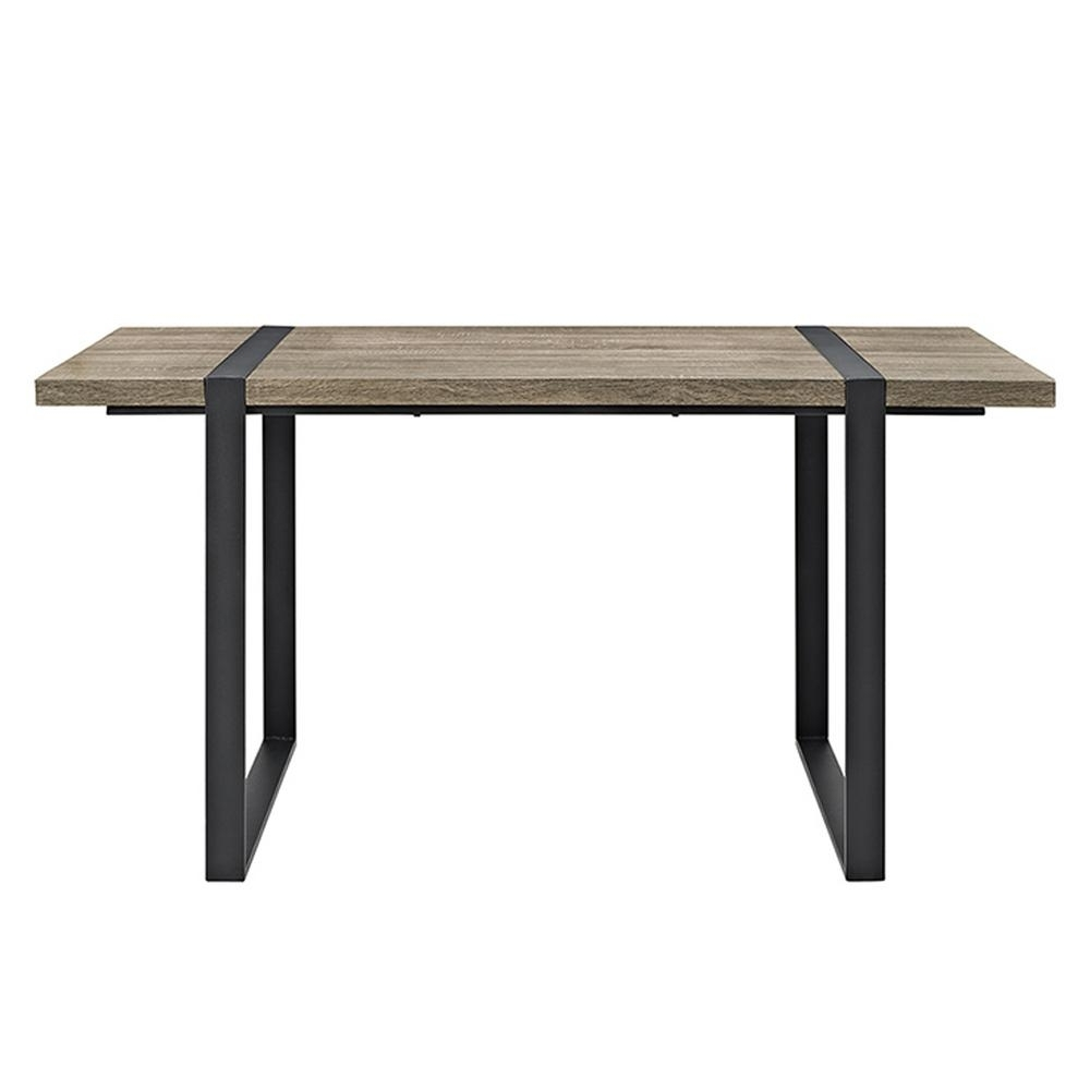 Widely Used Iron And Wood Dining Tables Within Walker Edison Furniture Company Urban Blend 60 In (View 25 of 25)
