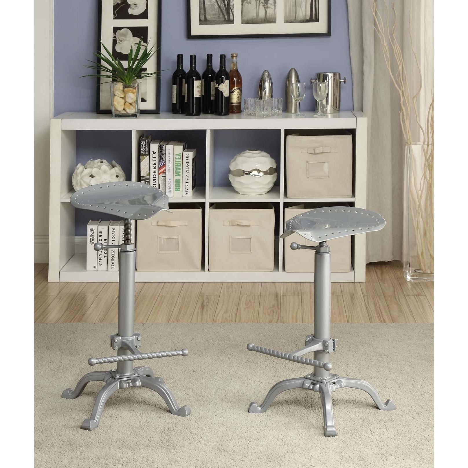 Widely Used Jameson Grey 5 Piece Counter Sets Regarding Shop Jameson Motorcycle Adjustable Bar Stool – Free Shipping Today (View 22 of 25)