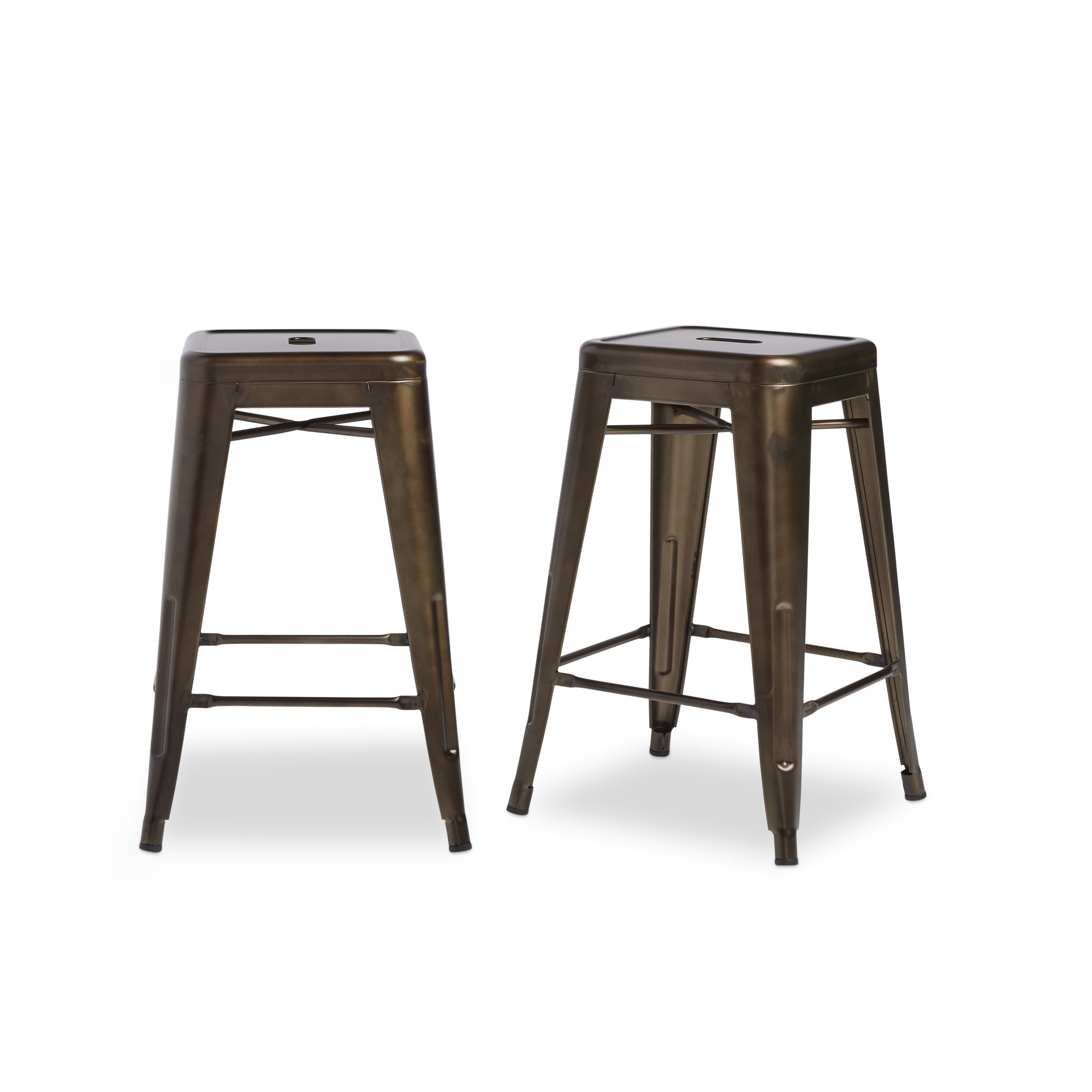 Widely Used Laurent 7 Piece Counter Sets With Wood Counterstools With Shop Tabouret 24 Inch Vintage Patina Backless Counter Stool (Set Of (View 11 of 25)
