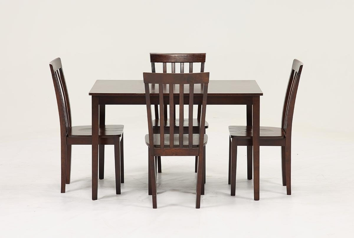 Widely Used Living Spaces Dining Room Sets Carson Ii 5 Piece Dining Set Living Within Pelennor Extension Dining Tables (View 25 of 25)