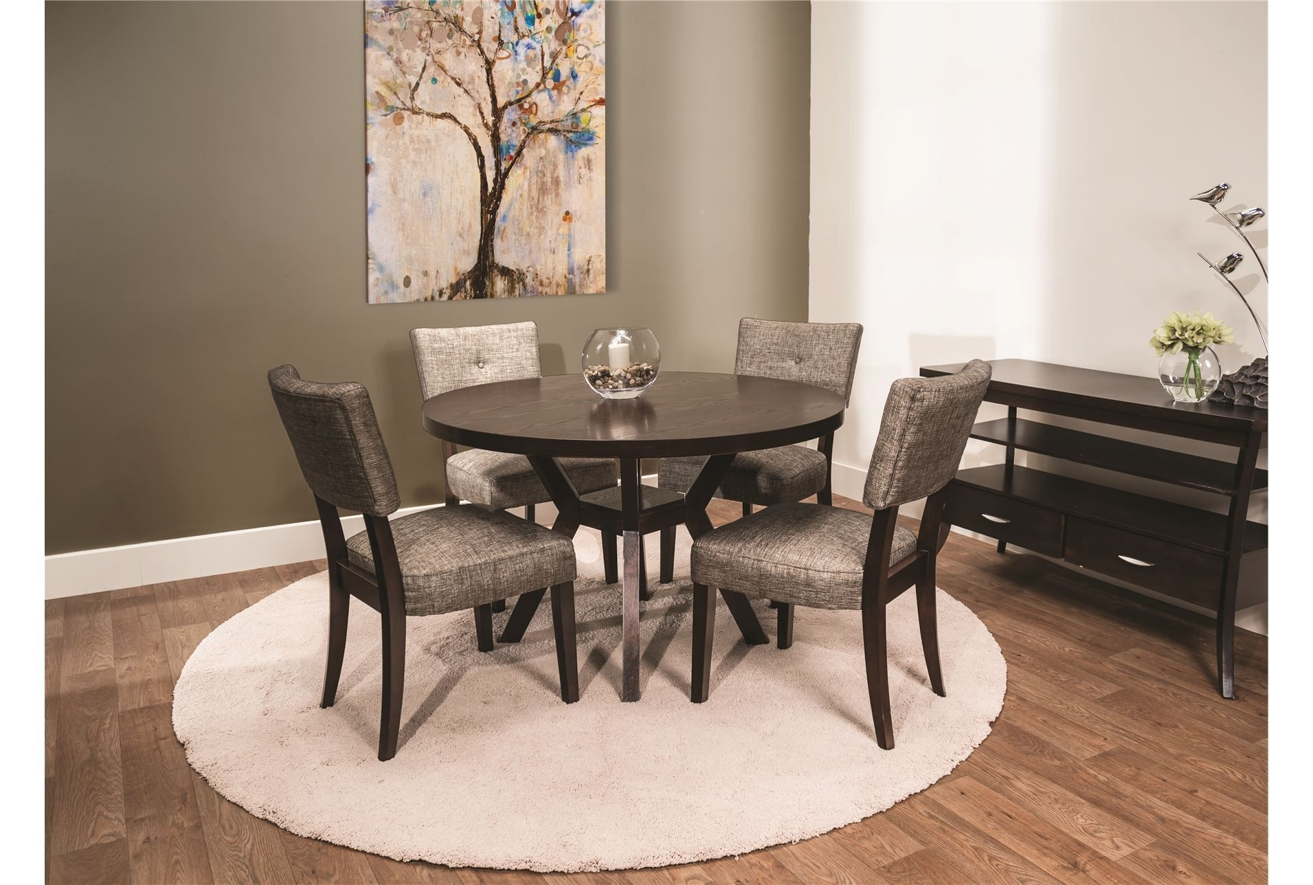 Widely Used Macie Round 5 Piece Dining (View 2 of 25)