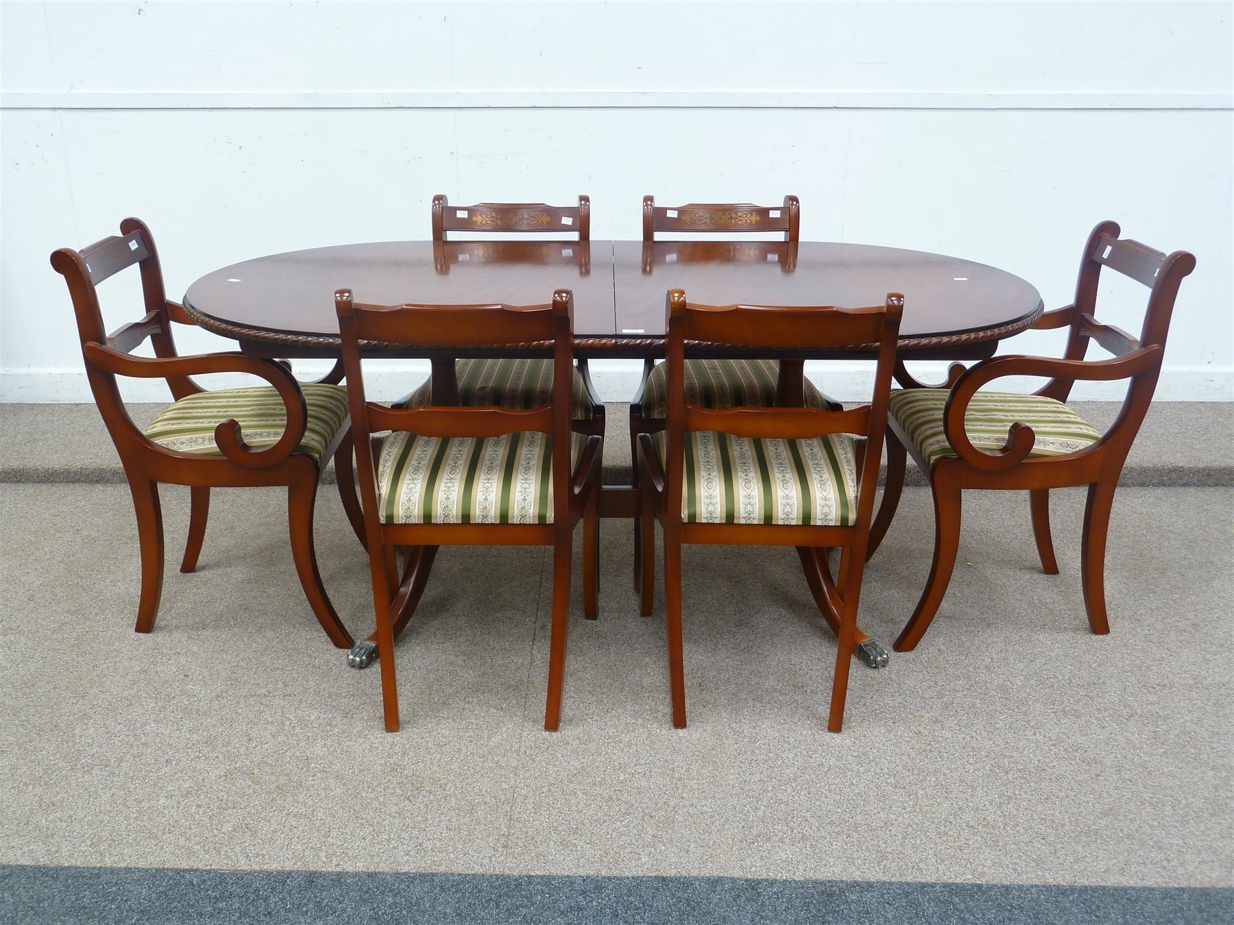 Widely Used Mahogany Extending Dining Tables And Chairs In Beresford & Hicks Regency Style Reproduction Mahogany Extending (View 24 of 25)