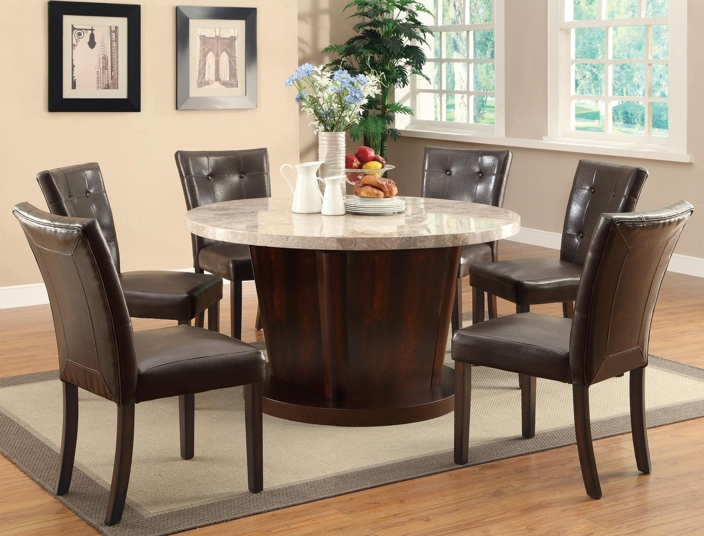 Widely Used Milton Cappuccino Wood And Marble Dining Table – Steal A Sofa Throughout Milton Dining Tables (View 9 of 25)