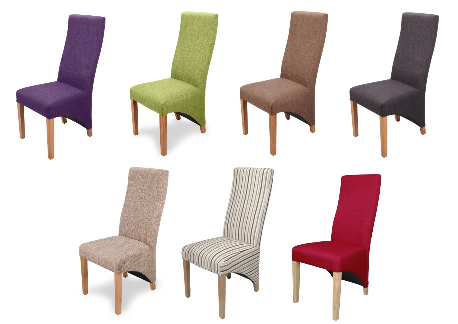 Widely Used Oak Fabric Dining Chairs In Pair Of Baxter Fabric Dining Chairs With Sprung Seat & Solid Oak (View 5 of 25)