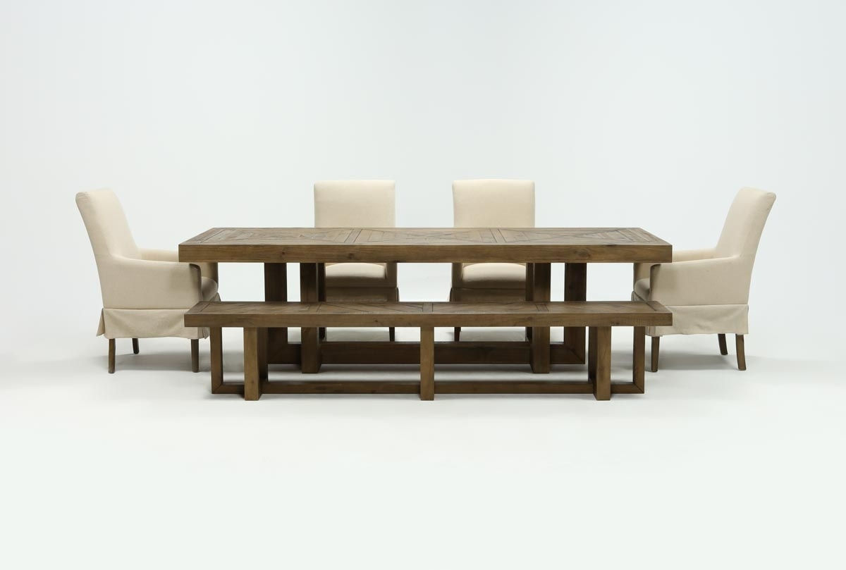 Widely Used Palazzo Rectangle Dining Tables Intended For Palazzo 6 Piece Dining Set With Mindy Slipcovered Side Chairs (View 11 of 25)