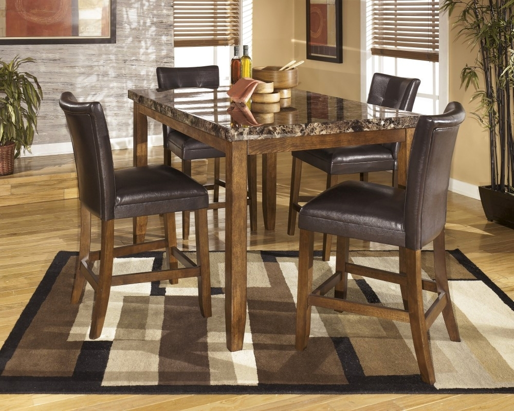 Widely Used Palazzo Rectangle Dining Tables Throughout Beautiful Lacey Rectangular Dining Room Counter Height Table & 4 Uph (View 25 of 25)