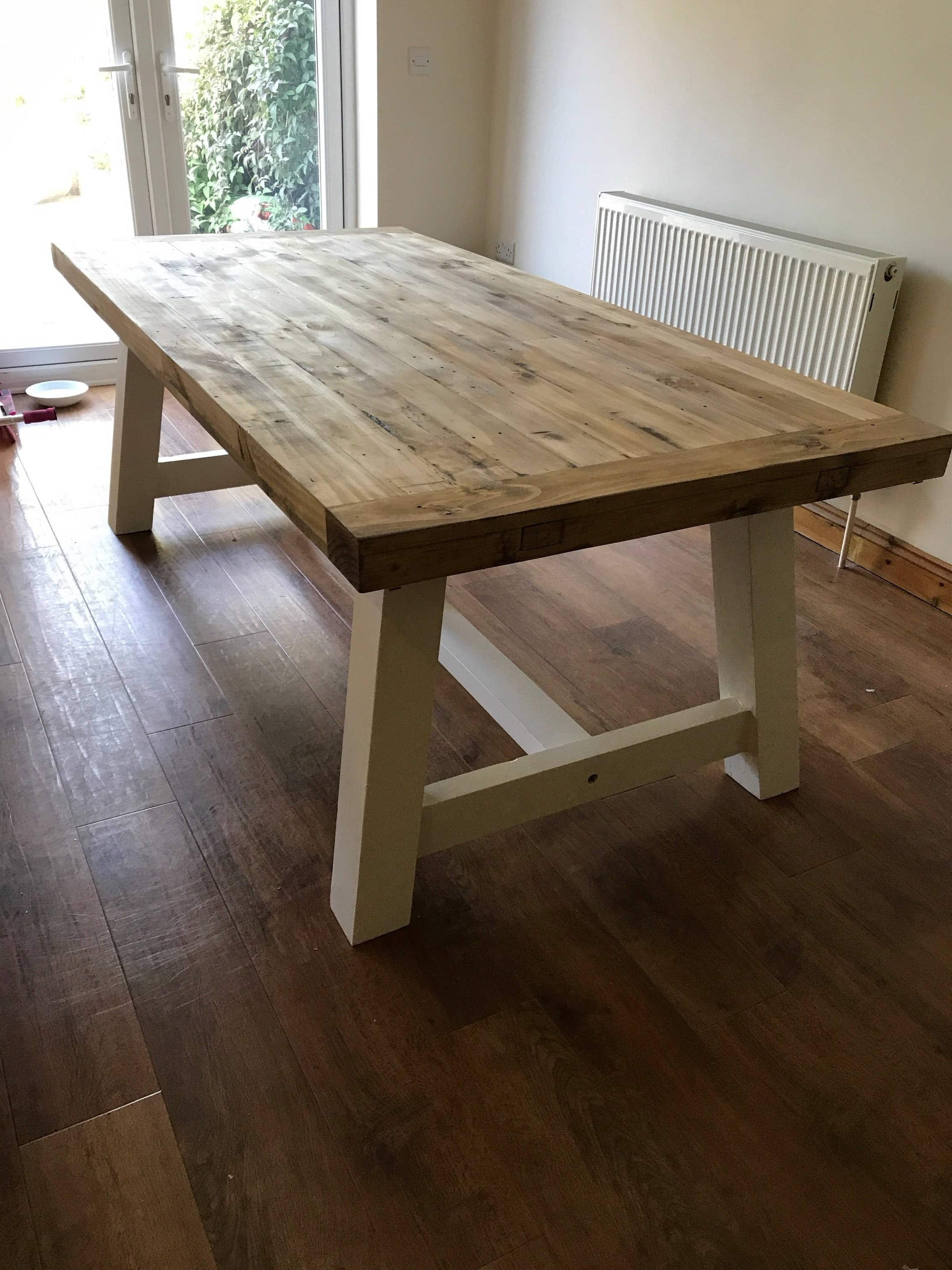 Widely Used Purbeck Shabby Chic Dining Table – Newco Interiors – Bespoke Joinery Throughout Shabby Chic Dining Sets (View 24 of 25)