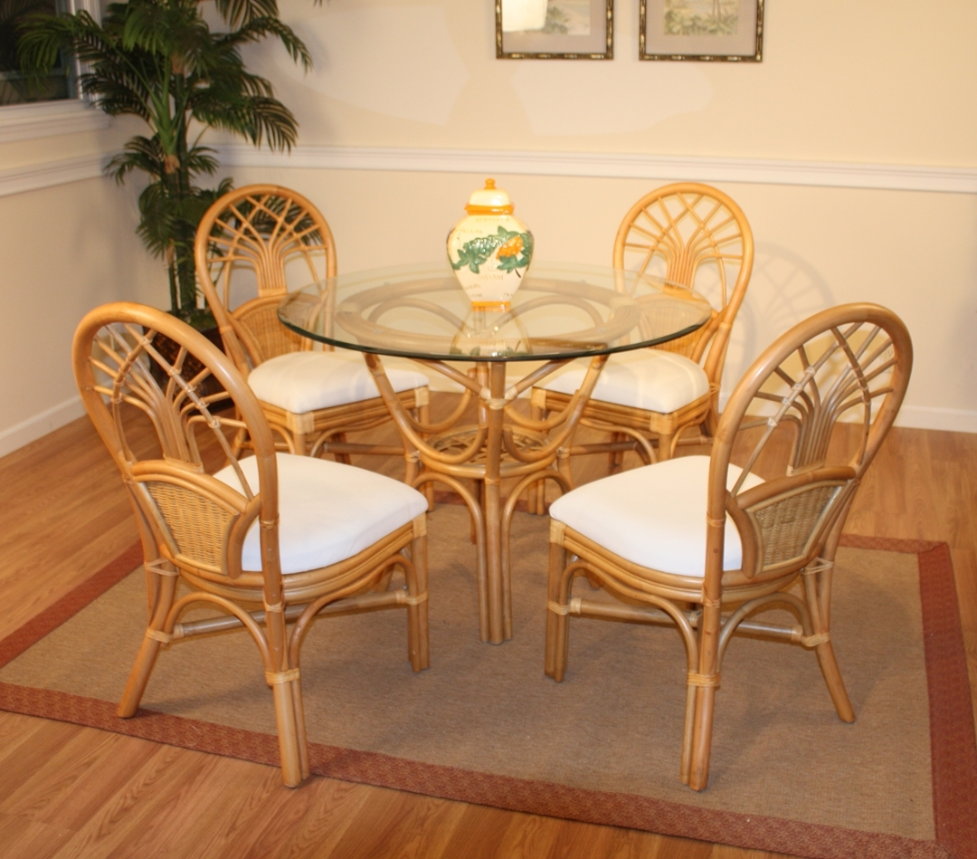 Widely Used Rattan Dining Set Jupiter Wicker And Glass Dining Table Perfect Intended For Wicker And Glass Dining Tables (View 6 of 25)