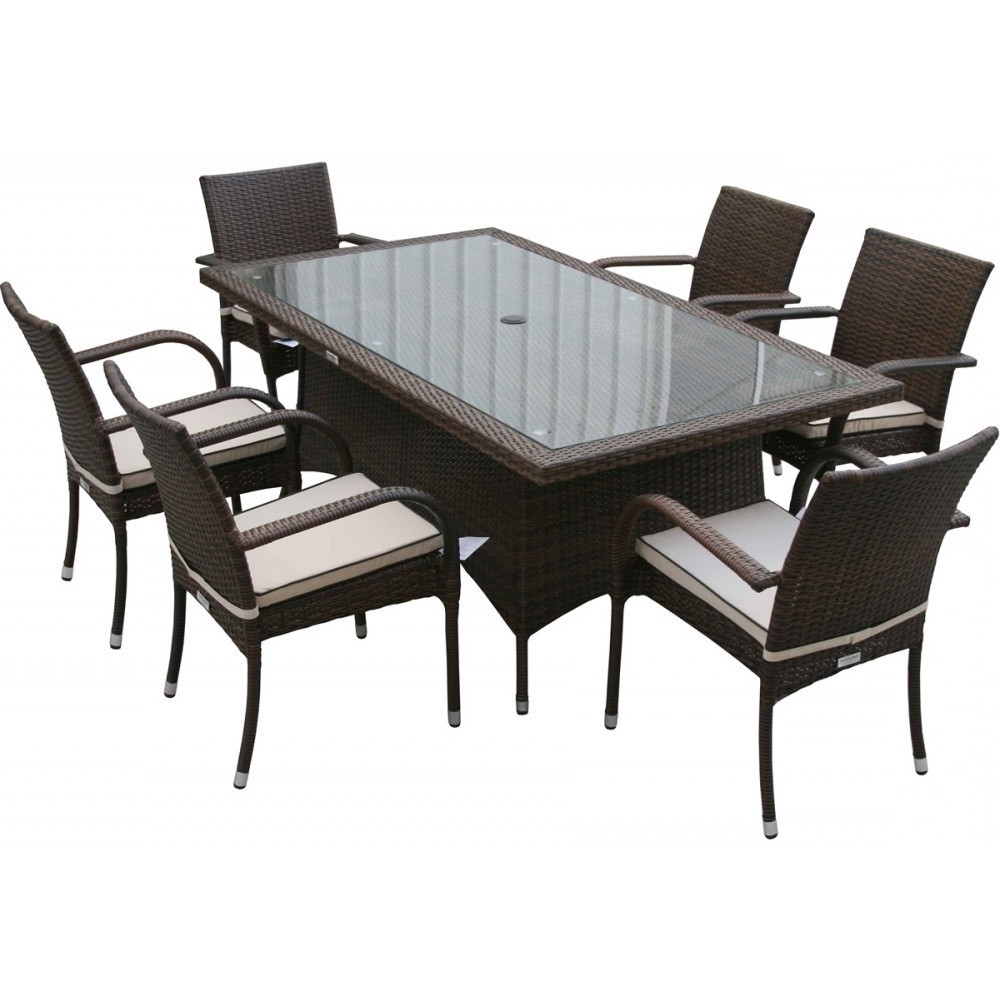 Widely Used Roma Dining Tables And Chairs Sets In Roma Rectangular Garden Table 6 Seat Set In Chocolate – Ideal Home (View 12 of 25)