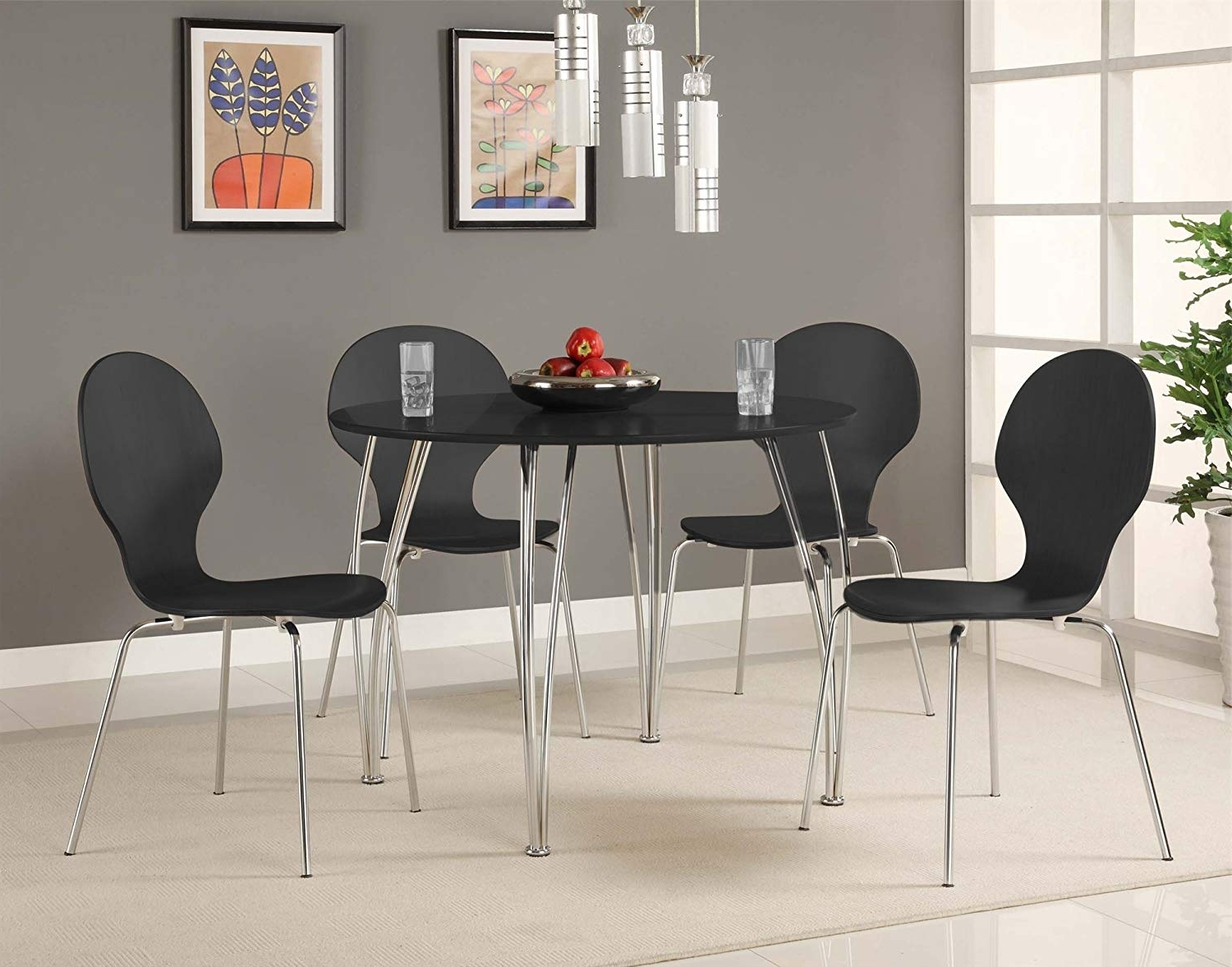 Widely Used Round Acrylic Dining Tables Within Amazon: Dhp Bentwood Round Dining Table Top, Contemporary Design (View 15 of 25)