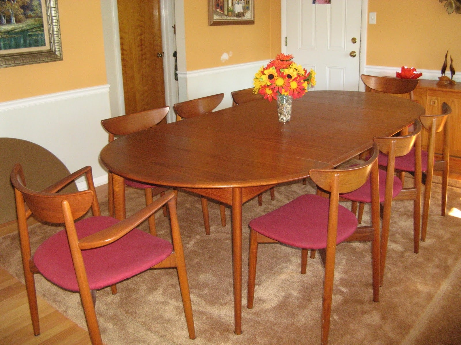 Widely Used Round Teak Dining Tables Inside Midcenturymodernmania@gmail: Svend Madsen Teak Dining Room Table (View 25 of 25)