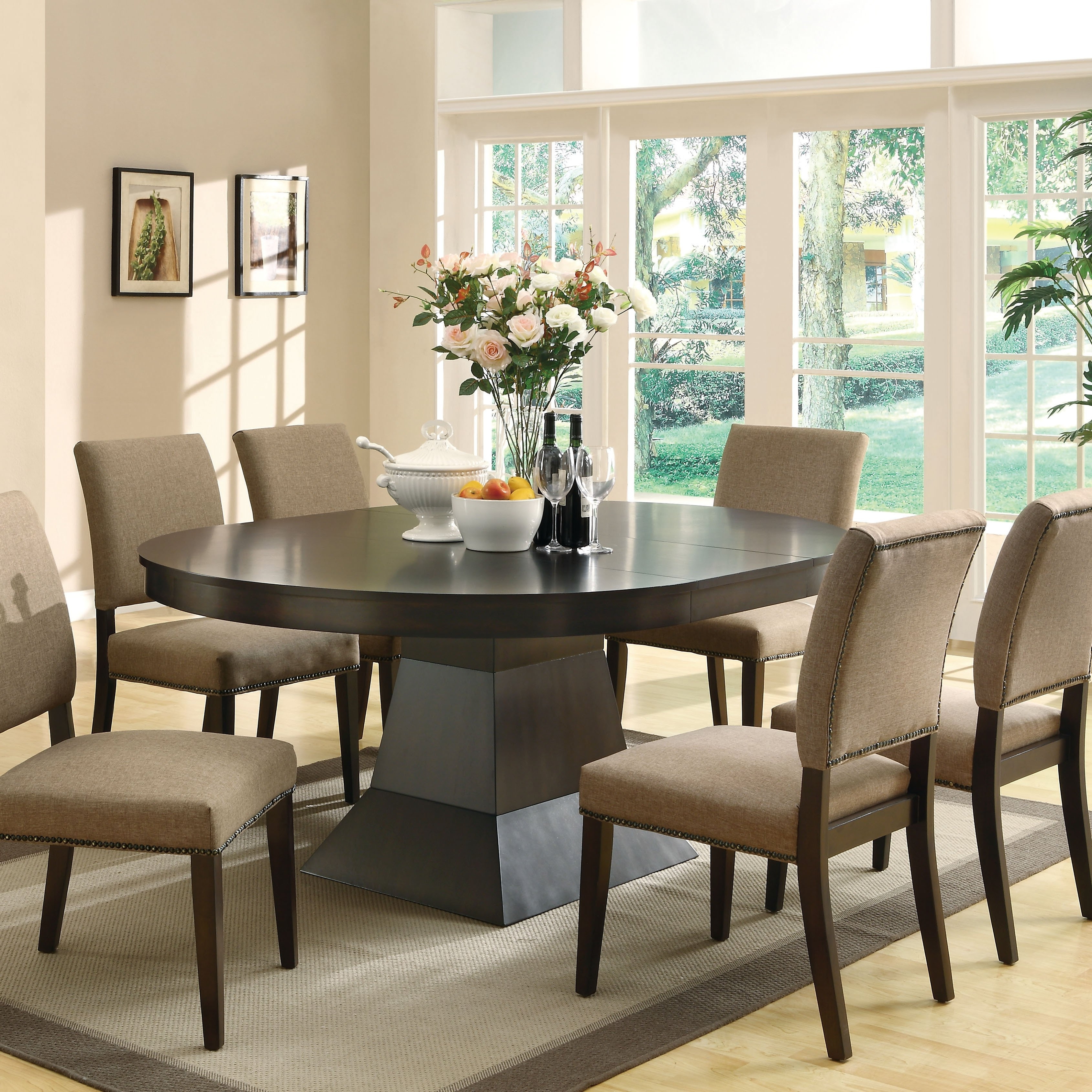 Widely Used Shop Coaster Company Myrtle Oval Dining Table – Coffee – On Sale For Oval Dining Tables For Sale (View 22 of 25)