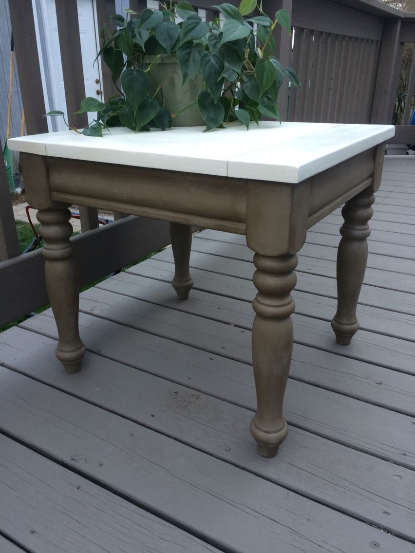 Widely Used Side Table Refinished In Annie Sloan French Linen W/dark Wax (Legs For Washed Old Oak & Waxed Black Legs Bar Tables (View 24 of 25)