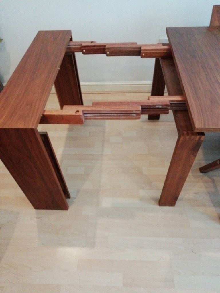 Widely Used Solid Dark Wood Dining Table And Chairs Seats  (View 25 of 25)