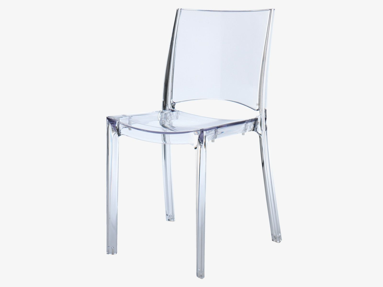 Widely Used Verne Clear Plastic Clear Plastic Stackable Dining Chair – Habitatuk Pertaining To Clear Plastic Dining Tables (View 25 of 25)