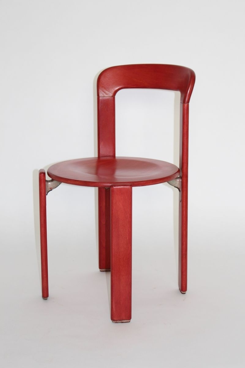 Widely Used Vintage Red Dining Chairsbruno Rey For Kusch & Co, Set Of 6 For In Red Dining Chairs (View 9 of 25)