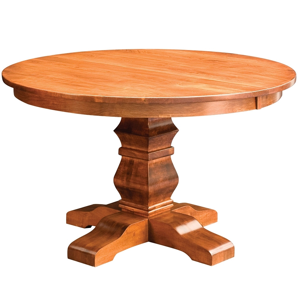 Widely Used Walden Single Pedestal Amish Dining Table  Amish Tables (View 25 of 25)