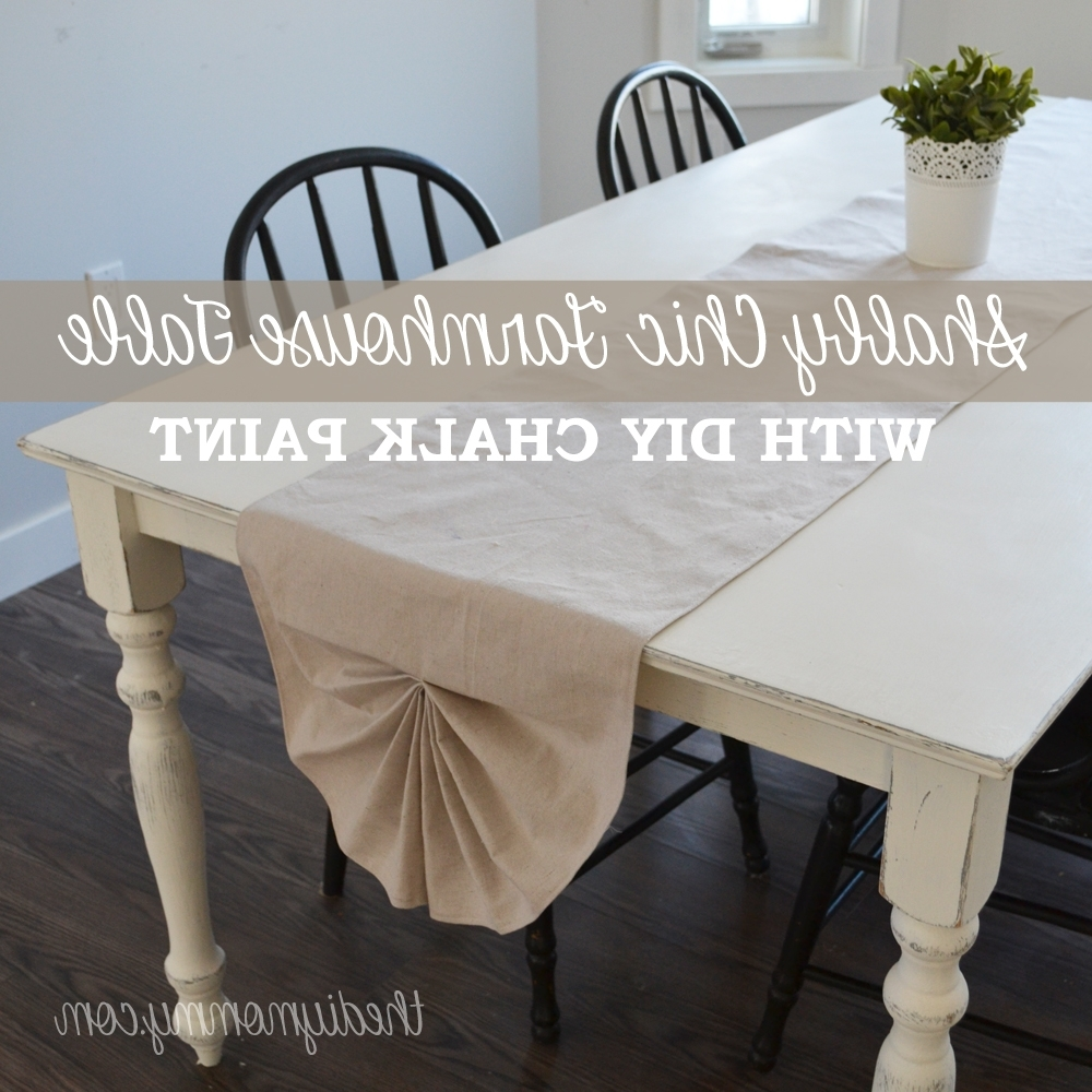 Widely Used Washed Old Oak & Waxed Black Legs Bar Tables Throughout A Shabby Chic Farmhouse Table With Diy Chalk Paint (View 25 of 25)