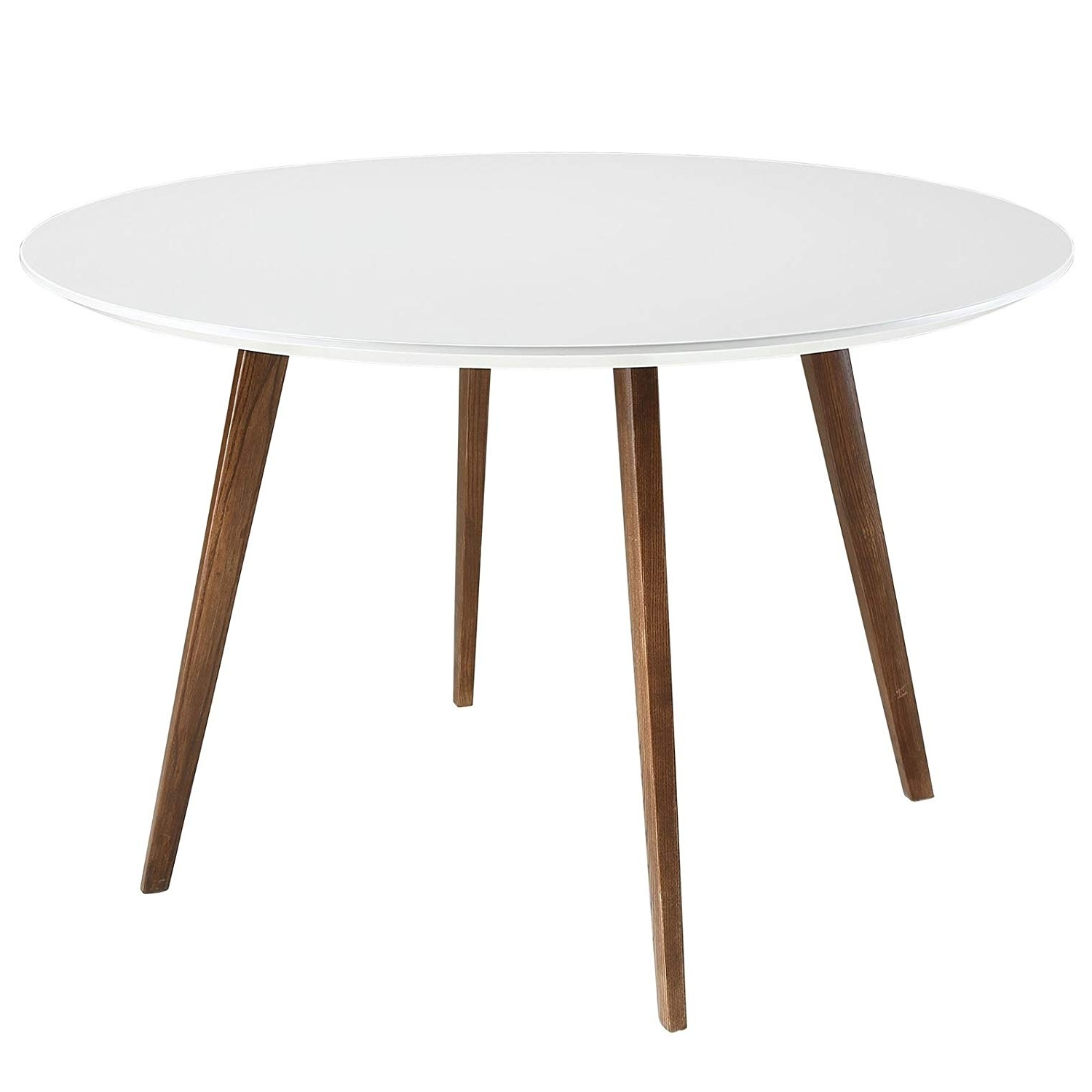 Widely Used White Circular Dining Tables Pertaining To Amazon – Modway Canvas Dining Table In White – Tables (View 24 of 25)