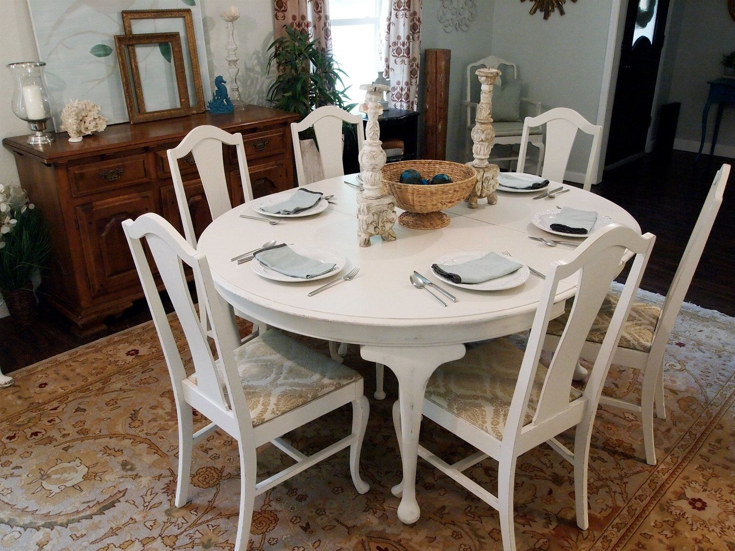 Widely Used White Dining Tables Sets Within I'm So Doing This Someday To My Set (View 25 of 25)