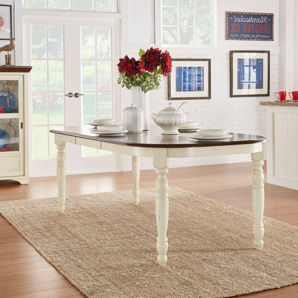 Widely Used White Extendable Dining Tables Throughout Homesullivan Anna Antique White Extendable Dining Table 401393W (View 14 of 25)