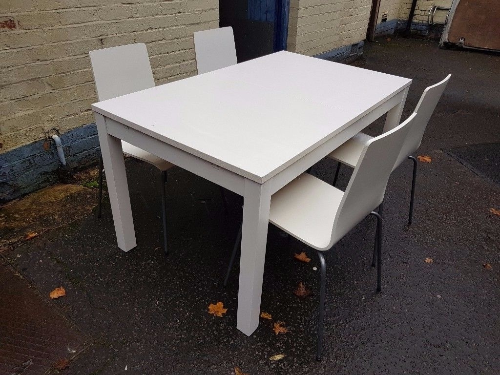 Widely Used White Ikea Extendable Dining Table And 4 Chairs (View 25 of 25)
