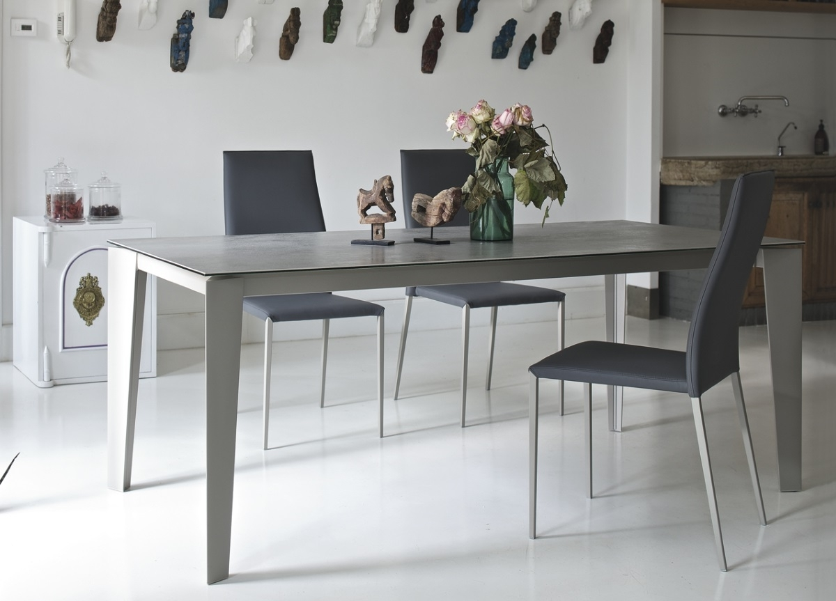 Widely Used White Melamine Dining Tables Inside Bontempi Casa Cruz Extending Dining Table (View 25 of 25)