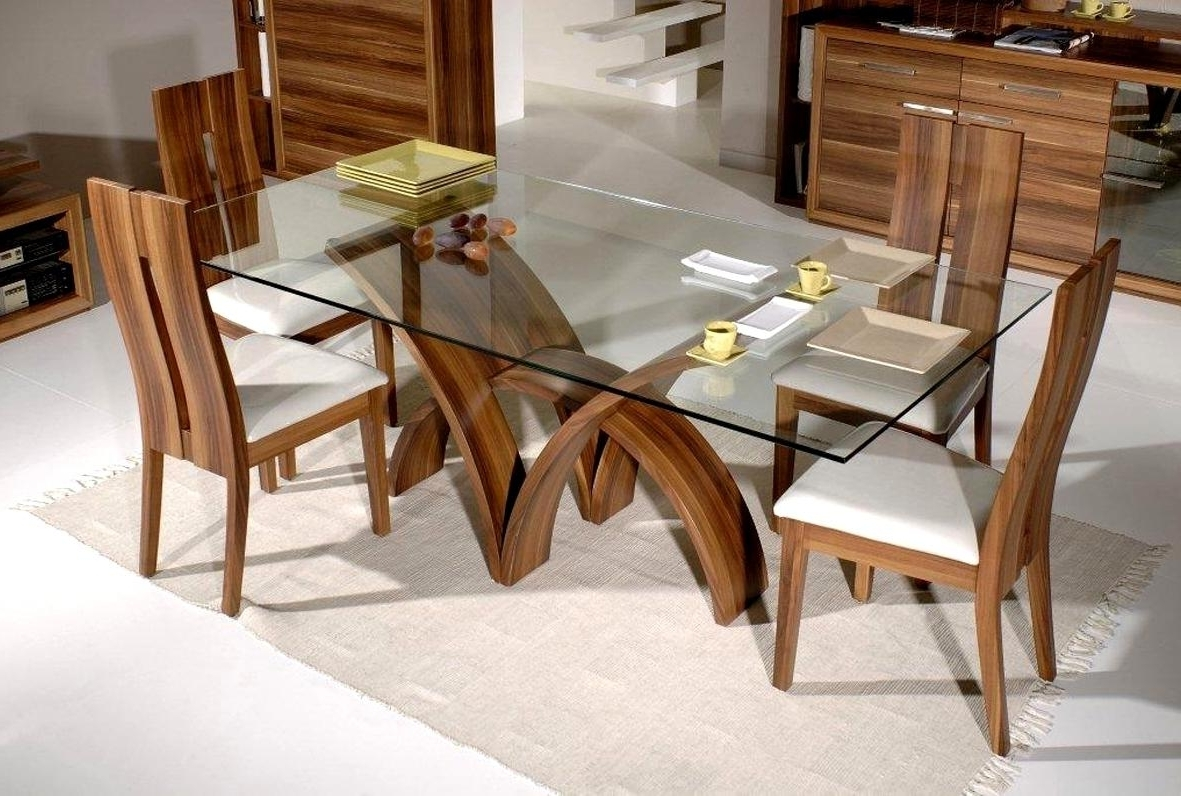 Widely Used Wood Glass Dining Tables In Pleasant Glass Dining Tables Room Frameless Glass Dining Table With (View 5 of 25)