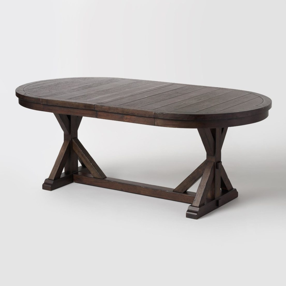 Wood Dining Table Room Tables Rustic Farmhouse Style World Market In Widely Used Oval Reclaimed Wood Dining Tables (View 20 of 25)